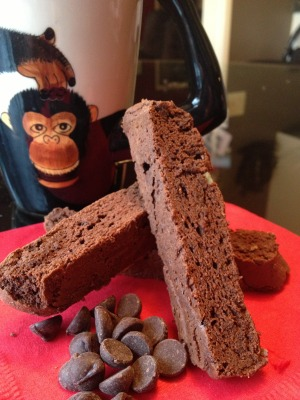 photo: double chocolate mocha biscotti
