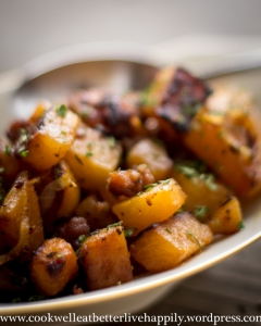 Roasted Rutabega Hash with Sausage