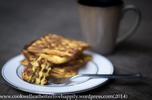 Coconut Butter Breakfast Batter Waffles (gluten-free, grain-free, nut-free, low-carb, keto)