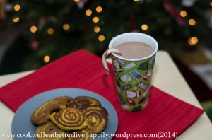 The perfect holiday breakfast treat...sugar free hot cocoa and coconut pancakes